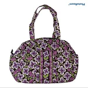 Vera Bradley PLUM PETALS Baby Bag with Diaper Pad